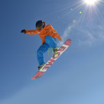 flying snowboard